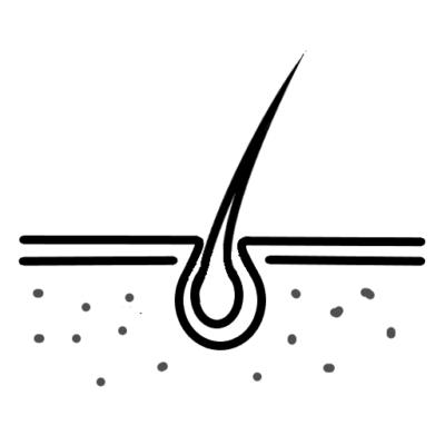 pictogram voor huid