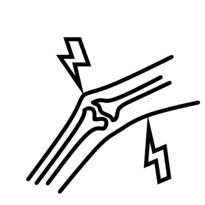 Pictogram voor spieren & gewrichten